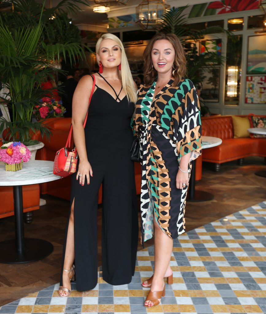 Louise O Reilly and Ellen Kavanagh  pictured at The Ivy Dawson Street's VIP Preview Evening on Monday, 16 July. Photo: Leon Farrell