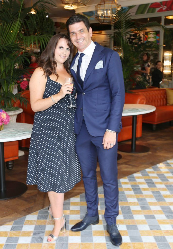 Ruth Gleeson and Jamie Belton pictured at The Ivy Dawson Street's VIP Preview Evening on Monday, 16 July. Photo: Leon Farrell