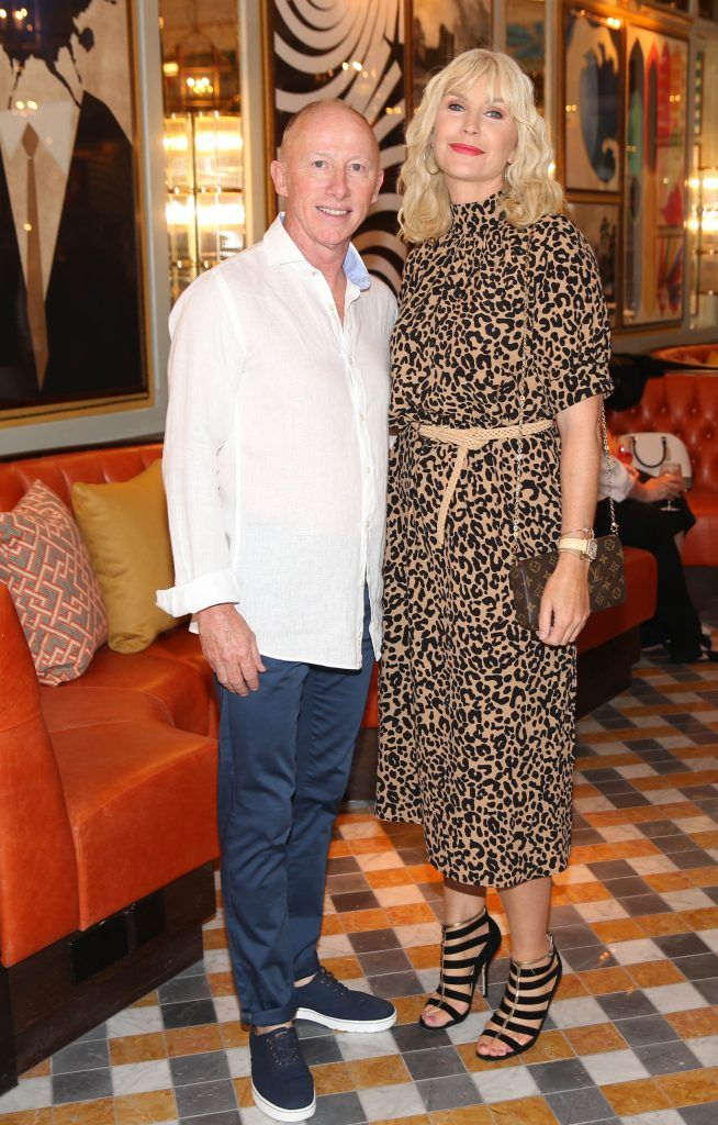 Joe Conlon and Yvonne Connolly pictured at The Ivy Dawson Street's VIP Preview Evening on Monday, 16 July. Photo: Leon Farrell