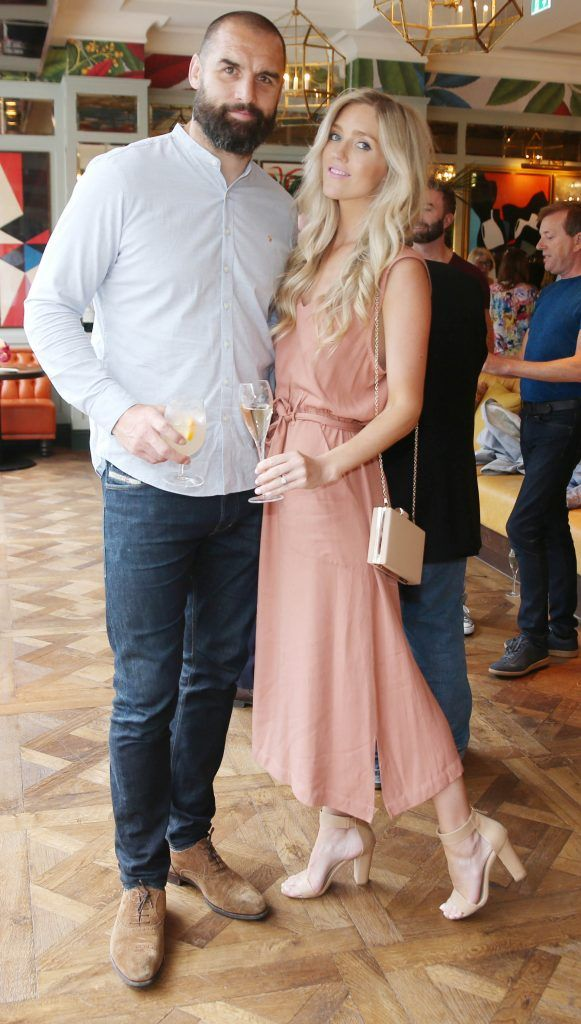 Scott Fardy and Penelope Fardy pictured at The Ivy Dawson Street's VIP Preview Evening on Monday, 16 July. Photo: Leon Farrell