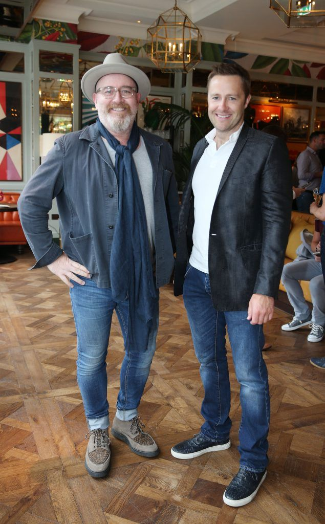 Barry McCall and Keith Barry  pictured at The Ivy Dawson Street's VIP Preview Evening on Monday, 16 July. Photo: Leon Farrell