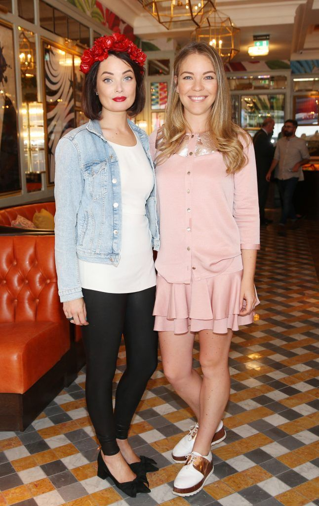 Martha Lynn and Emma Manly  pictured at The Ivy Dawson Street's VIP Preview Evening on Monday, 16 July. Photo: Leon Farrell