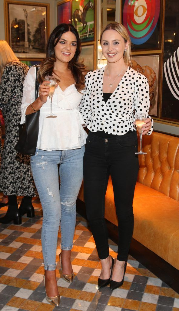 Megan Cassidy and Katie Hughes  pictured at The Ivy Dawson Street's VIP Preview Evening on Monday, 16 July. Photo: Leon Farrell