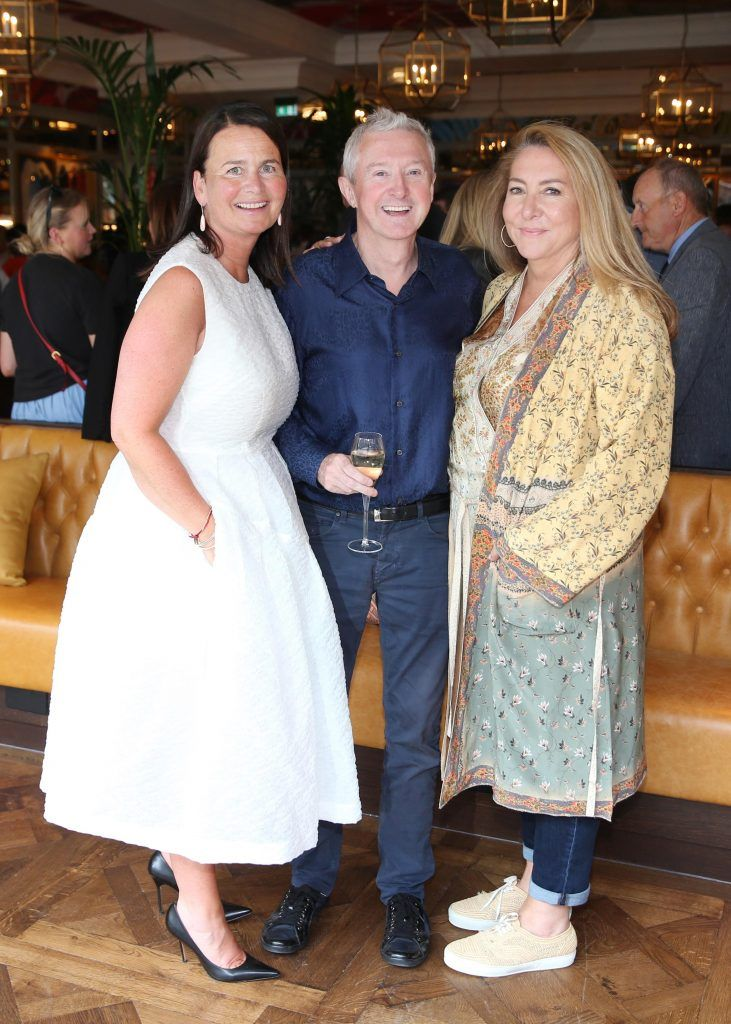 Joanne Byrne, Louis Walsh and Caroline Downey pictured at The Ivy Dawson Street's VIP Preview Evening on Monday, 16 July. Photo: Leon Farrell