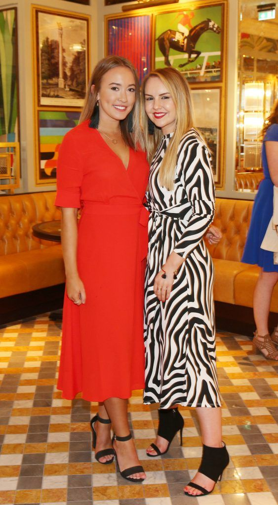 Anna Loss and Katie Allan pictured at The Ivy Dawson Street's VIP Preview Evening on Monday, 16 July. Photo: Leon Farrell