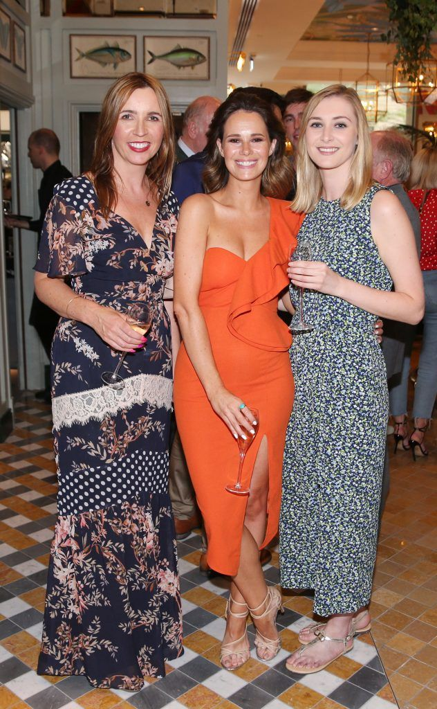 Jennifer Swaine ,Carol Byrne and Helen Brown   pictured at The Ivy Dawson Street's VIP Preview Evening on Monday, 16 July. Photo: Leon Farrell