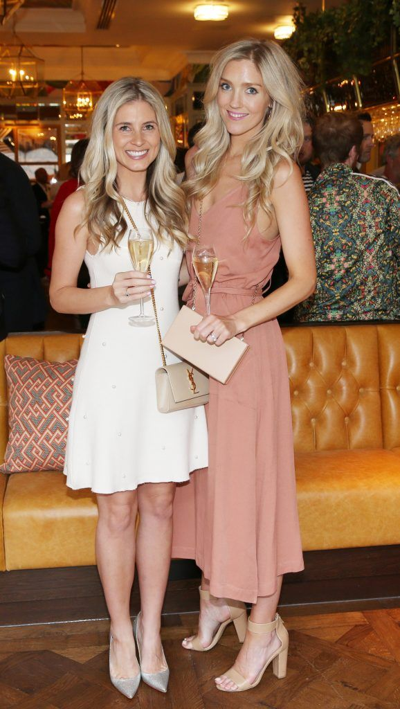 Hollie Nasser and Penelope Fardy  pictured at The Ivy Dawson Street's VIP Preview Evening on Monday, 16 July. Photo: Leon Farrell