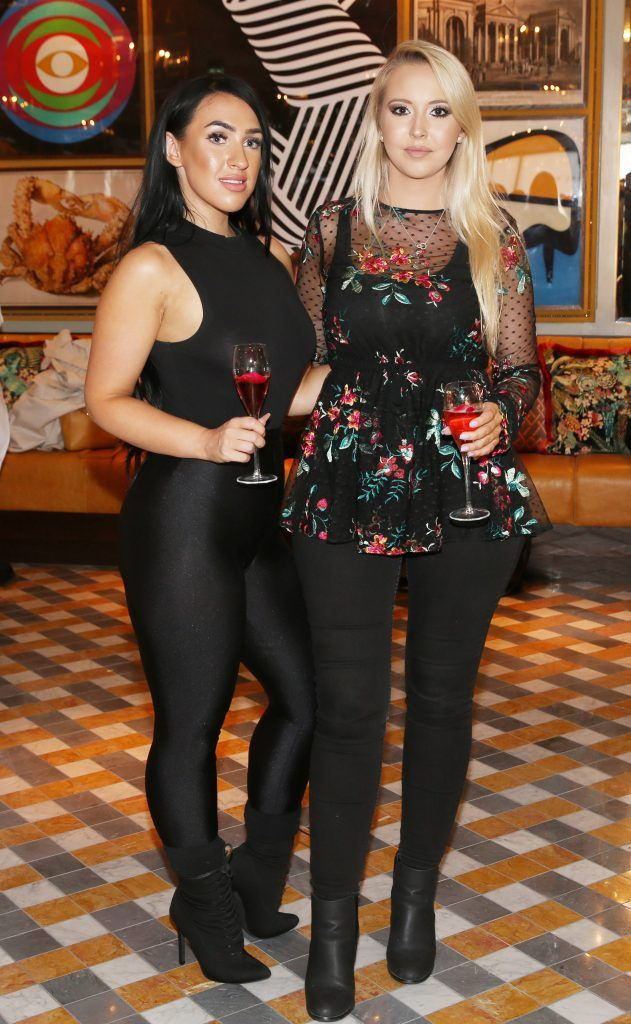 Sarah Emma Hughes and Kendra Becker pictured at The Ivy Dawson Street's VIP Preview Evening on Monday, 16 July. Photo: Leon Farrell