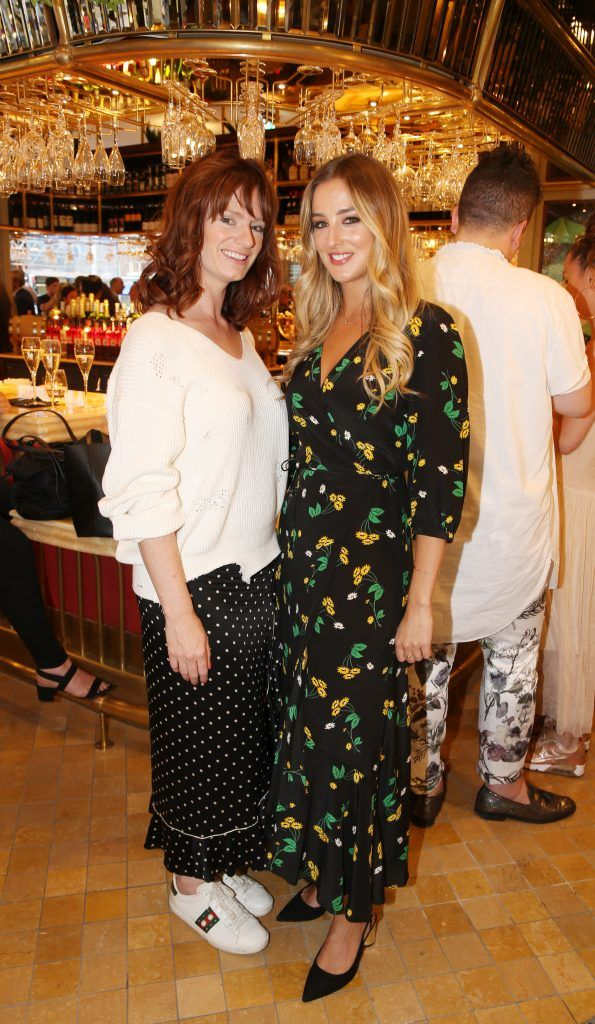 Ciara Crilly and Dee O Brien pictured at The Ivy Dawson Street's VIP Preview Evening on Monday, 16 July. Photo: Leon Farrell