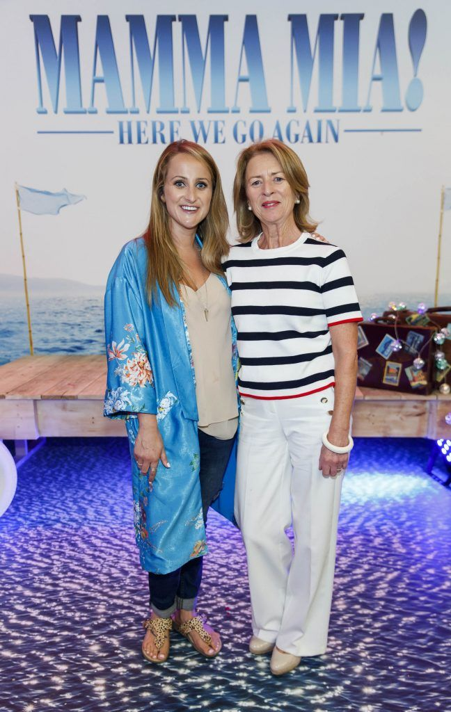 Justine King and Edel King pictured at the Universal Pictures Irish premiere screening of MAMMA MIA! HERE WE GO AGAIN at Odeon Point Square, Dublin. Picture Andres Poveda