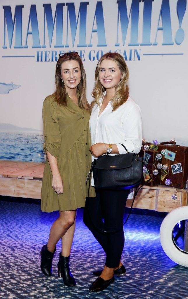 Lauren Walsh and Stephanie Coull pictured at  the Universal Pictures Irish premiere screening of MAMMA MIA! HERE WE GO AGAIN at Odeon Point Square, Dublin. Picture Andres Poveda