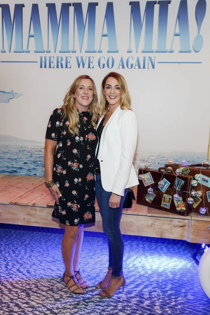 Maria Glennon and Laura Glennon pictured at the Universal Pictures Irish premiere screening of MAMMA MIA! HERE WE GO AGAIN at Odeon Point Square, Dublin. Picture Andres Poveda