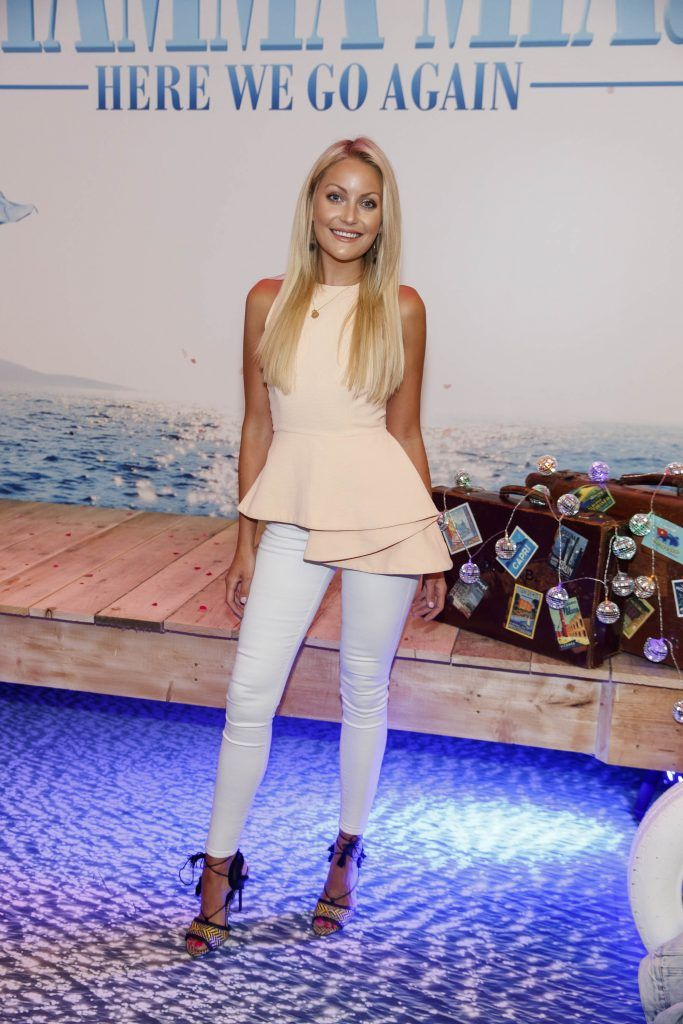 Kerri Nicole Blanc pictured at the Universal Pictures Irish premiere screening of MAMMA MIA! HERE WE GO AGAIN at Odeon Point Square, Dublin. Picture Andres Poveda