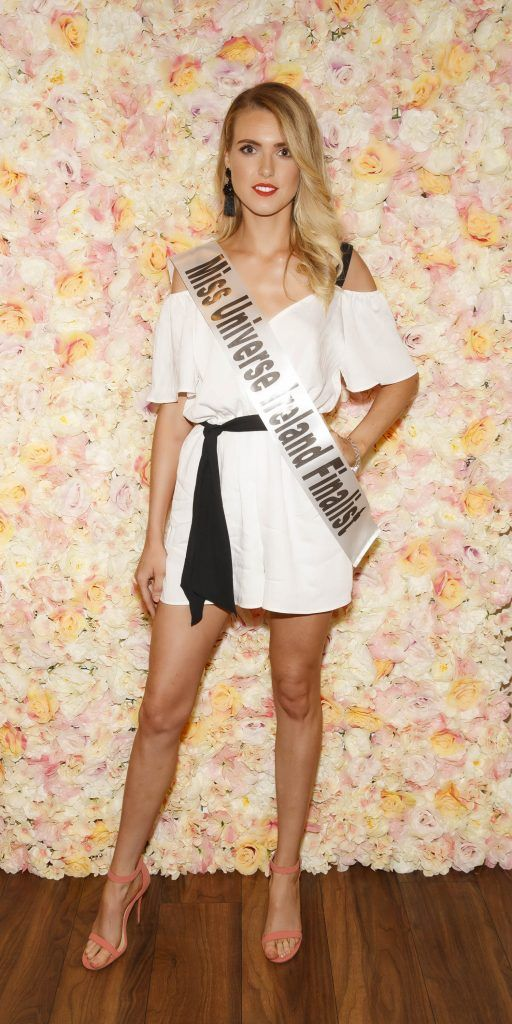 Spohie Wilkins pictured at the Miss Universe Ireland 2018 Pampering Launch Evening in Zero One Salon, Wicklow St, Dublin. Picture: Andres Poveda