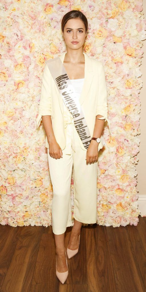 Christina Alcazar pictured at the Miss Universe Ireland 2018 Pampering Launch Evening in Zero One Salon, Wicklow St, Dublin. Picture: Andres Poveda