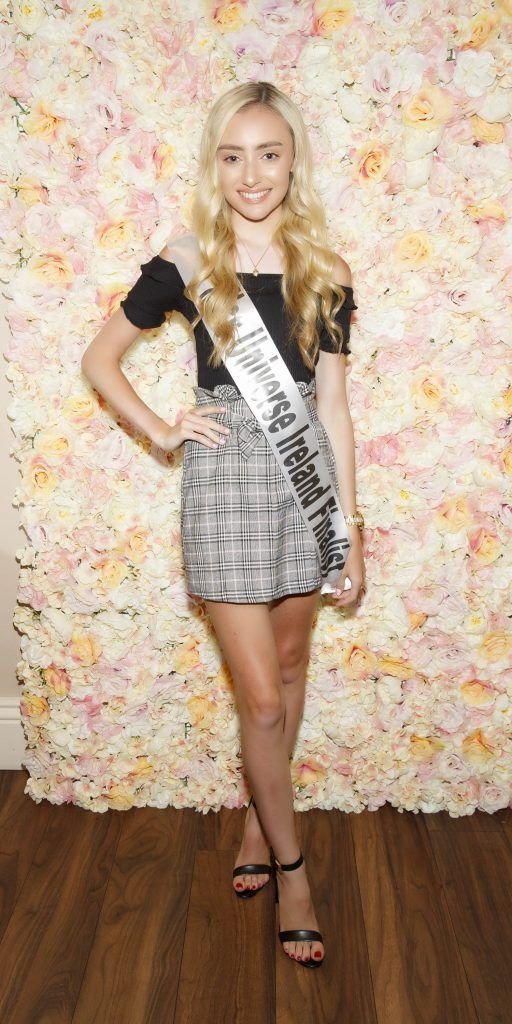 Chloe O'Loughlin pictured at the Miss Universe Ireland 2018 Pampering Launch Evening in Zero One Salon, Wicklow St, Dublin. Picture: Andres Poveda