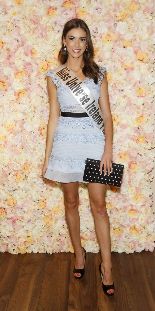 Anna Cahill pictured at the Miss Universe Ireland 2018 Pampering Launch Evening in Zero One Salon, Wicklow St, Dublin. Picture: Andres Poveda