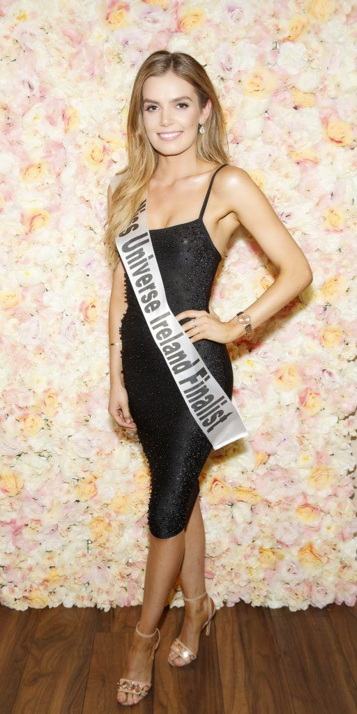 Melaine Delaney pictured at the Miss Universe Ireland 2018 Pampering Launch Evening in Zero One Salon, Wicklow St, Dublin. Picture: Andres Poveda