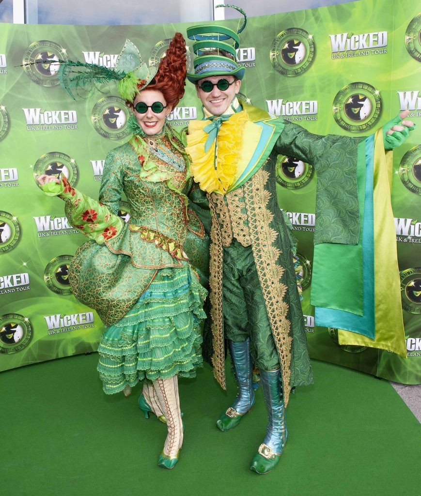 Amy Goodwin and Stuart MacIver pictured at the opening night of the West End Musical Wicked at the Bord Gais Energy Theatre ,Dublin Picture: Brian McEvoy Photography