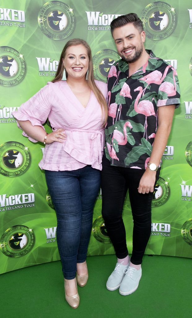 Vanessa Butler and James Patrice pictured at the opening night of the West End Musical Wicked at the Bord Gais Energy Theatre ,Dublin Picture: Brian McEvoy Photography
