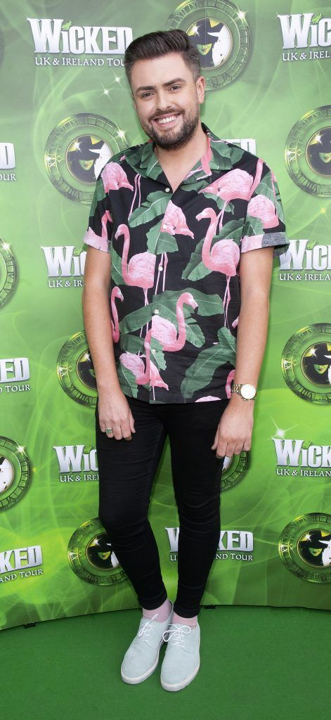 James Patrice pictured at  the opening night of the West End Musical Wicked at the Bord Gais Energy Theatre ,Dublin Picture: Brian McEvoy Photography