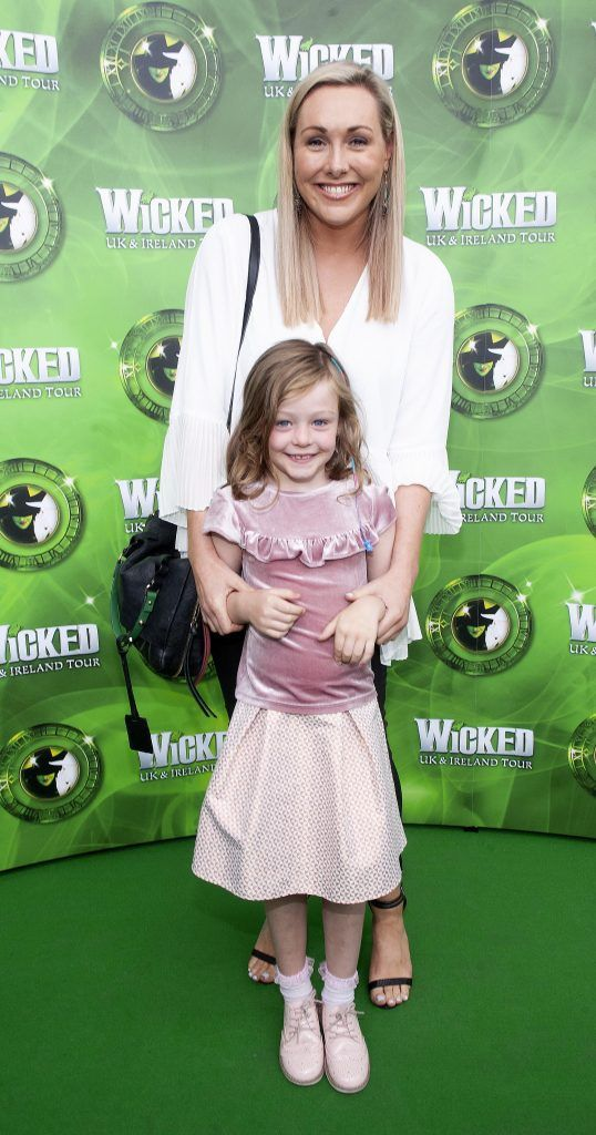 Tracy Clifford And Lily Clifford pictured at the opening night of the West End Musical Wicked at the Bord Gais Energy Theatre ,Dublin Picture: Brian McEvoy Photography