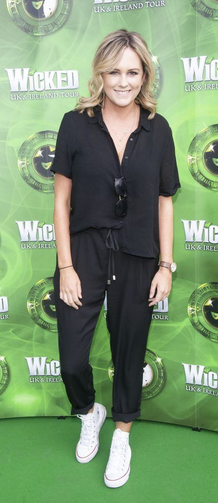 Cassie Stokes pictured at  the opening night of the West End Musical Wicked at the Bord Gais Energy Theatre ,Dublin Picture: Brian McEvoy Photography