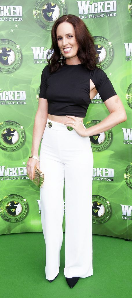 Aoibheann McCaul pictured at the opening night of the West End Musical Wicked at the Bord Gais Energy Theatre ,Dublin Picture: Brian McEvoy Photography