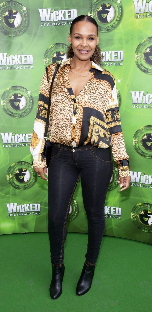 Samantha Mumba pictured at the opening night of the West End Musical Wicked at the Bord Gais Energy Theatre ,Dublin Picture: Brian McEvoy Photography