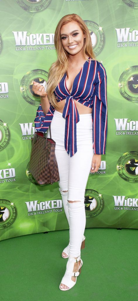 Andrea Rooney pictured at  the opening night of the West End Musical Wicked at the Bord Gais Energy Theatre ,Dublin Picture: Brian McEvoy Photography