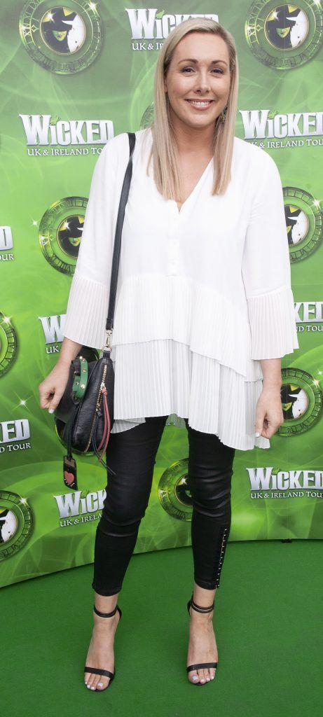 Tracy Clifford pictured at  the opening night of the West End Musical Wicked at the Bord Gais Energy Theatre ,Dublin Picture: Brian McEvoy Photography
