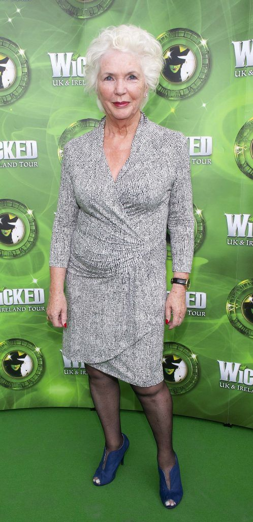Fionnula Flanagan pictured at the opening night of the West End Musical Wicked at the Bord Gais Energy Theatre ,Dublin Picture: Brian McEvoy Photography