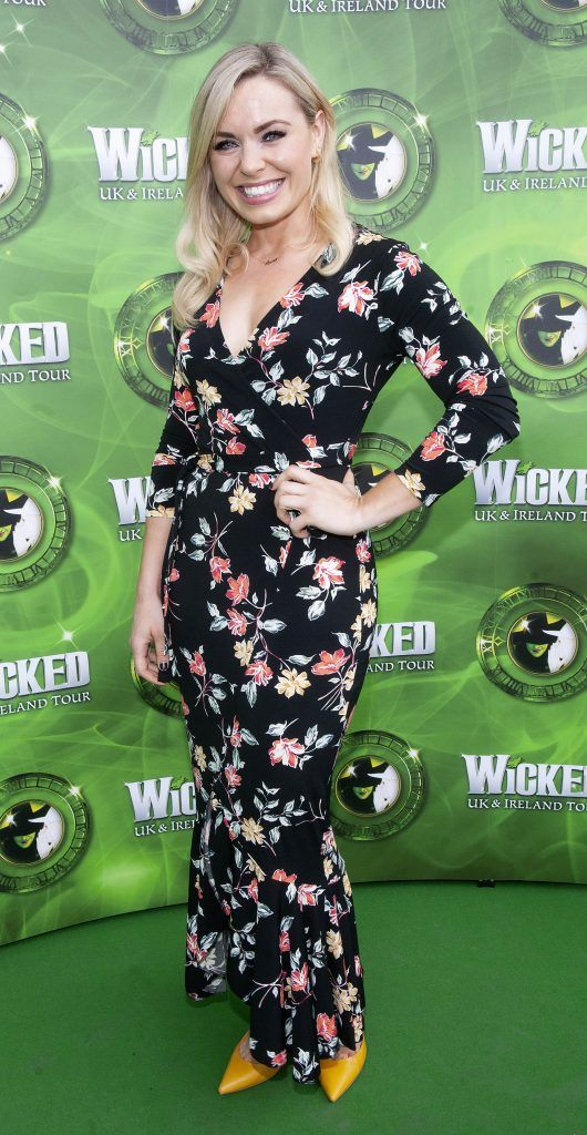 Anna Geary pictured at  the opening night of the West End Musical Wicked at the Bord Gais Energy Theatre ,Dublin Picture: Brian McEvoy Photography