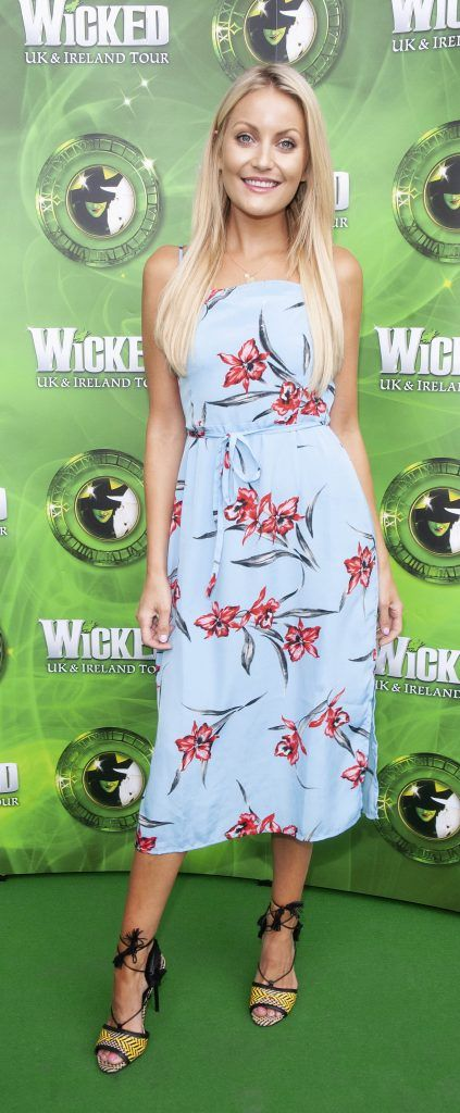 Kerri Nicole Blanc pictured at the opening night of the West End Musical Wicked at the Bord Gais Energy Theatre ,Dublin Picture: Brian McEvoy Photography