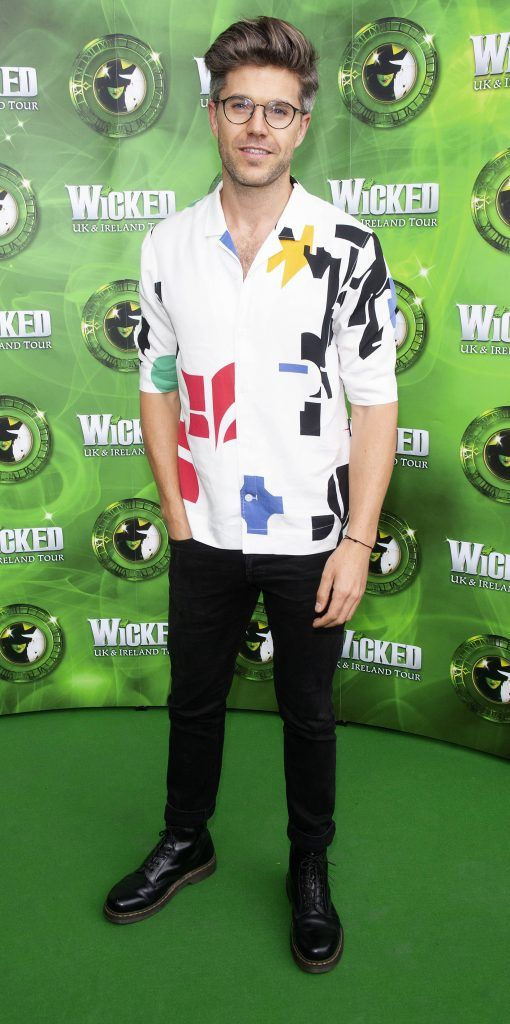 Darren Kennedy pictured at the opening night of the West End Musical Wicked at the Bord Gais Energy Theatre ,Dublin Picture: Brian McEvoy Photography