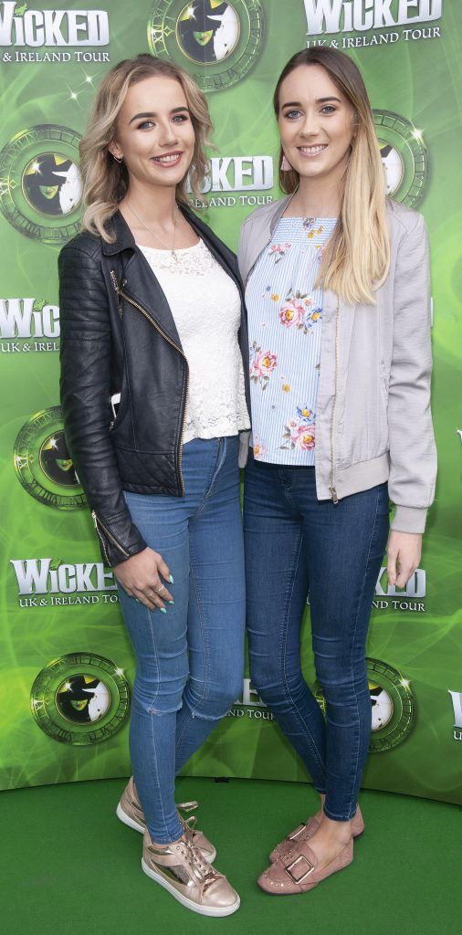 Suzie Burns and Elaine Donnelly pictured at the opening night of the West End Musical Wicked at the Bord Gais Energy Theatre ,Dublin Picture: Brian McEvoy Photography