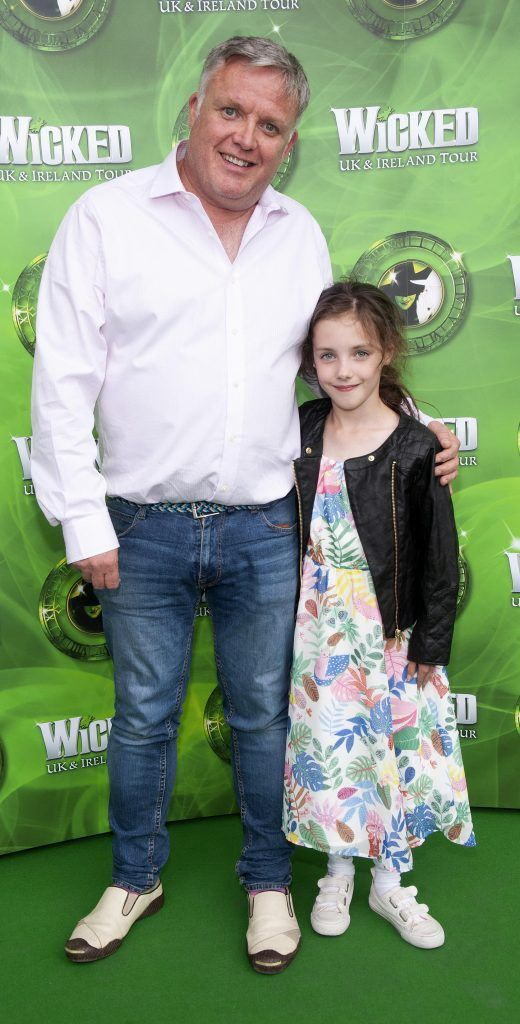 Liam Coburn and Abigail Coburn pictured at the opening night of the West End Musical Wicked at the Bord Gais Energy Theatre ,Dublin Picture: Brian McEvoy Photography