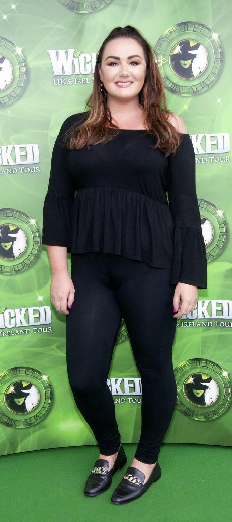 Vicki Notaro pictured at  the opening night of the West End Musical Wicked at the Bord Gais Energy Theatre ,Dublin Picture: Brian McEvoy Photography