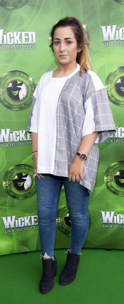 Shauna Costello pictured at  the opening night of the West End Musical Wicked at the Bord Gais Energy Theatre ,Dublin Picture: Brian McEvoy Photography