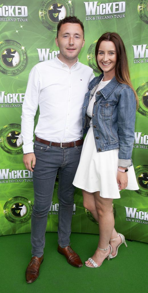 Jordan Greer and Naomi Lonsdale pictured at  the opening night of the West End Musical Wicked at the Bord Gais Energy Theatre ,Dublin Picture: Brian McEvoy Photography