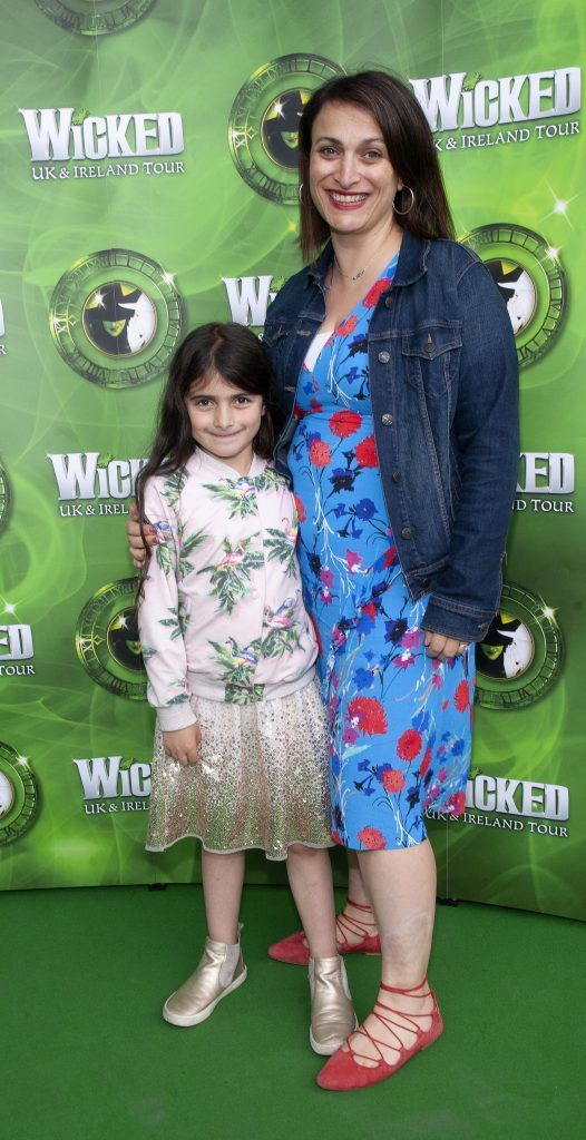 Georgia Duke  and Serina Bellissimo pictured at the opening night of the West End Musical Wicked at the Bord Gais Energy Theatre ,Dublin Picture: Brian McEvoy Photography