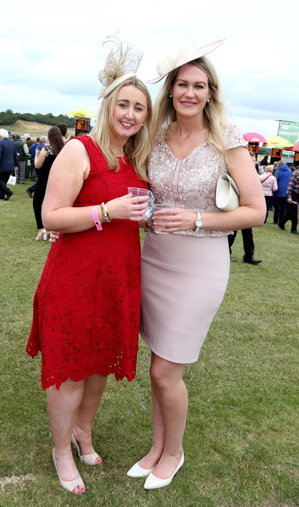 Brenda Caroll and Noreen Noonan at the Kilbeggan Races Best Dress Lady Competition Sponsored By Bellamianta Luxury Tan and The Wineport Lodge. Picture: Aishling Conway