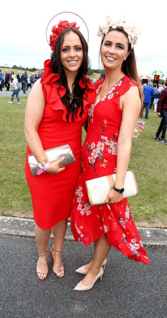 Lorna Smyth and Nessa McLoughlin at the Kilbeggan Races Best Dress Lady Competition Sponsored By Bellamianta Luxury Tan and The Wineport Lodge. Picture: Aishling Conway