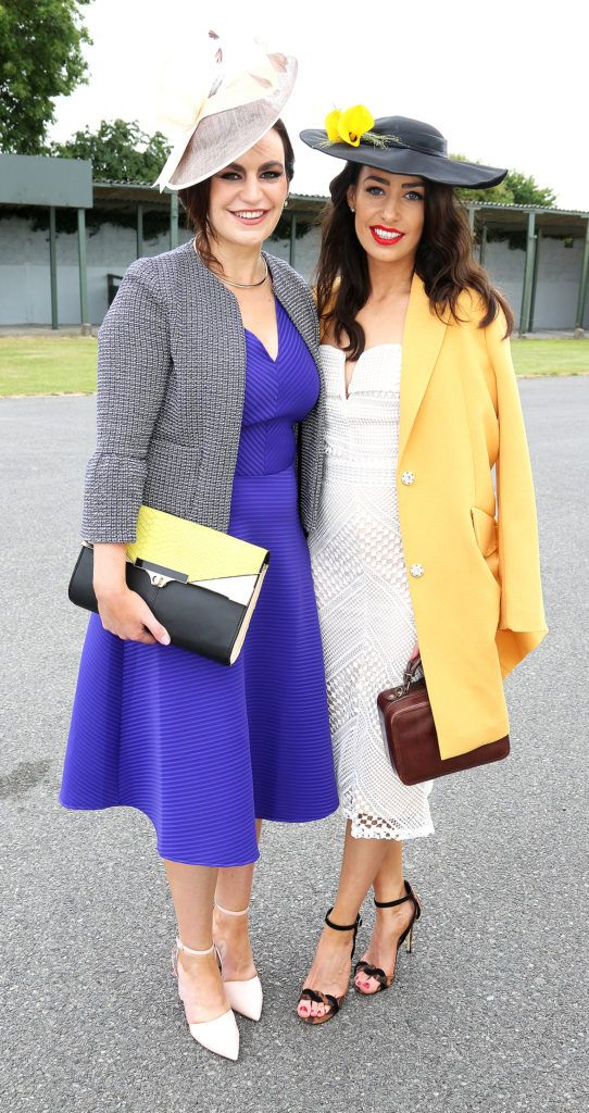 Avril Moran and Veronica Moran at the Kilbeggan Races Best Dress Lady Competition Sponsored By Bellamianta Luxury Tan and The Wineport Lodge. Picture: Aishling Conway
