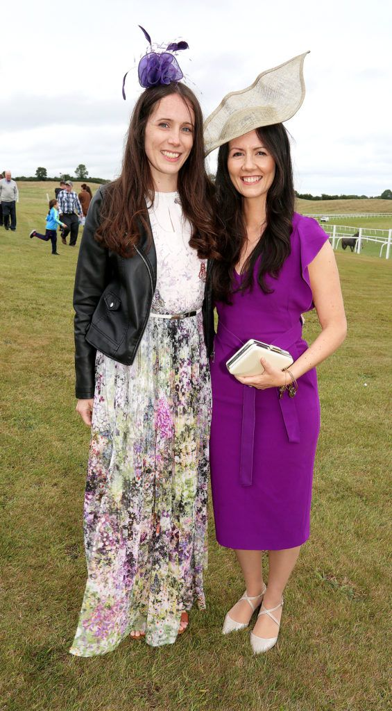 Sabrina and Rebecca Crotty at the Kilbeggan Races Best Dress Lady Competition Sponsored By Bellamianta Luxury Tan and The Wineport Lodge. Picture: Aishling Conway