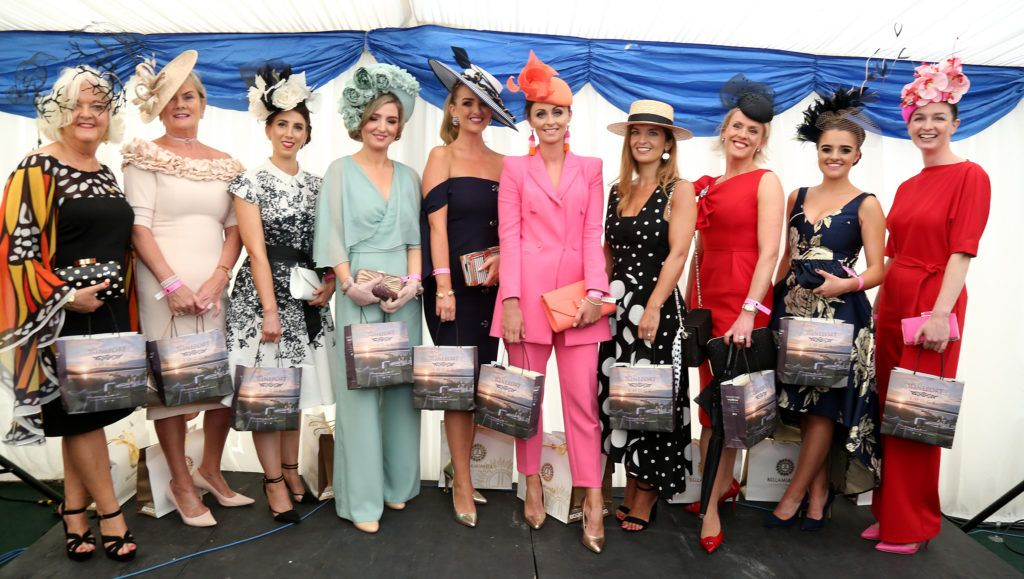 Finalists of the Best Dressed Competition at the Kilbeggan Races Best Dress Lady Competition Sponsored By Bellamianta Luxury Tan and The Wineport Lodge. Picture: Aishling Conway