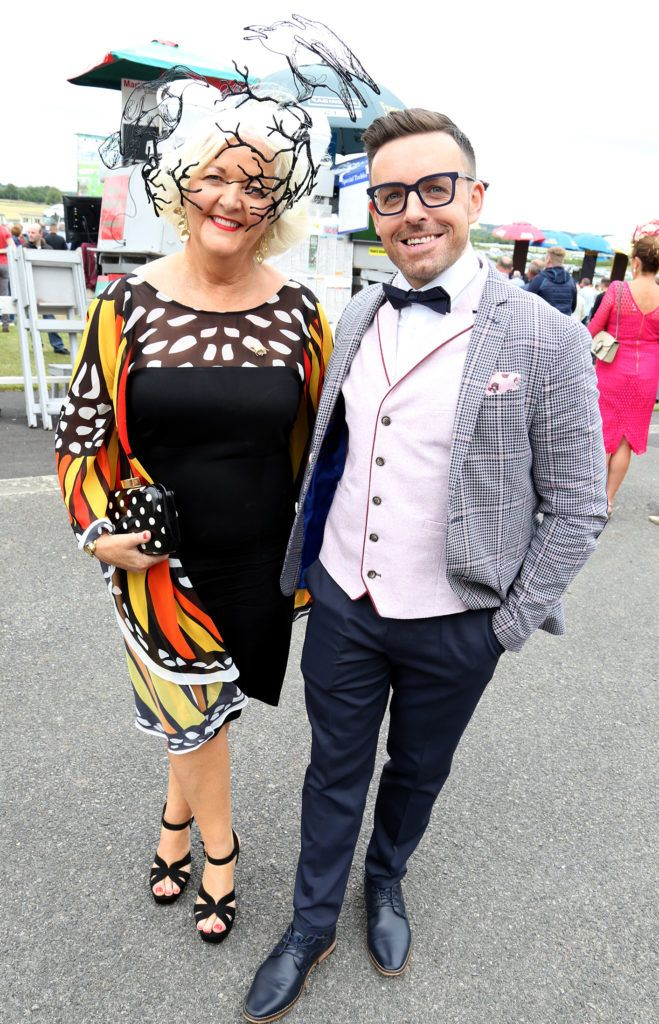 Mary O'Halloran and Stuart Mongomery at the Kilbeggan Races Best Dress Lady Competition Sponsored By Bellamianta Luxury Tan and The Wineport Lodge. Picture: Aishling Conway