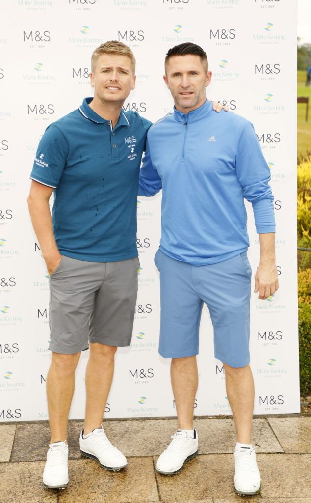 Brian Ormond and Robbie Keane at the 2018 Marks & Spencer Ireland Marie Keating Foundation Celebrity Golf Classic. Picture: Kieran Harnett