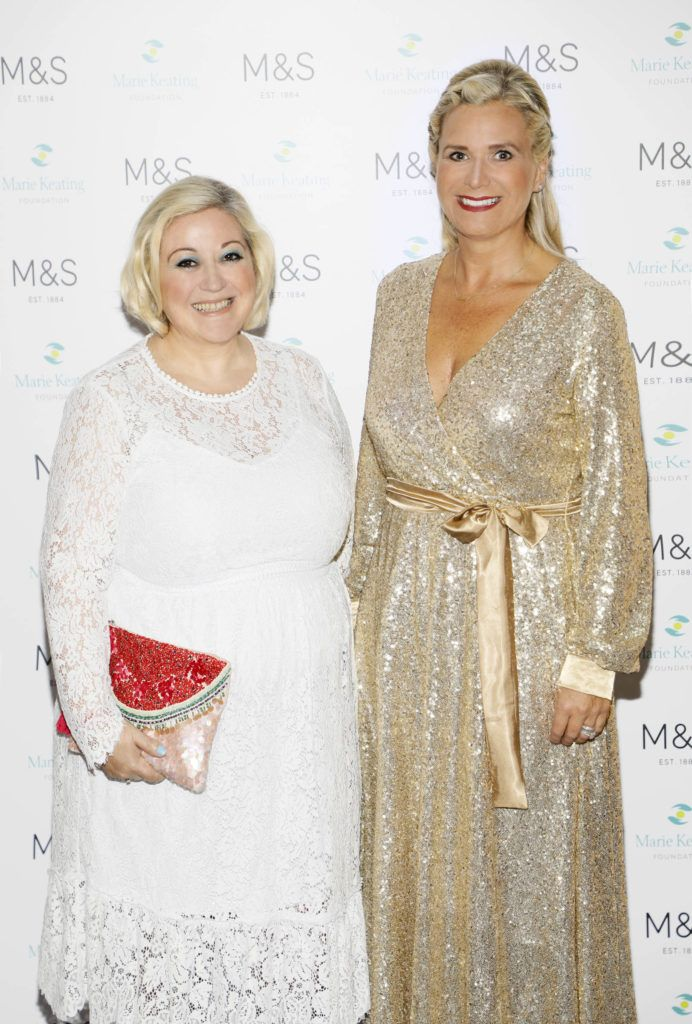 Carmel Breheny and Bernice Moran at the 2018 Marks & Spencer Ireland Marie Keating Foundation Celebrity Golf Classic. Picture: Kieran Harnett