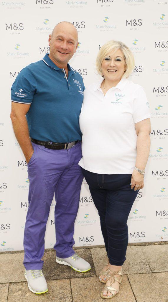 Alan Shortt and Carmel Breheny at the 2018 Marks & Spencer Ireland Marie Keating Foundation Celebrity Golf Classic. Picture: Kieran Harnett